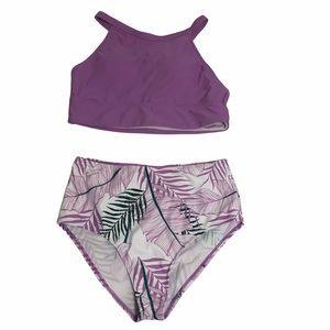 SHIEN Tropical High Rise Bikini NWOT
